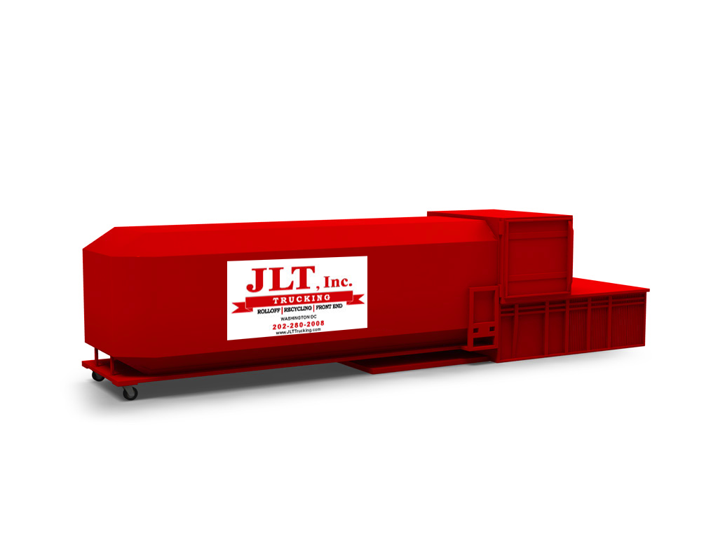 link for waste services; stationary trash compactor